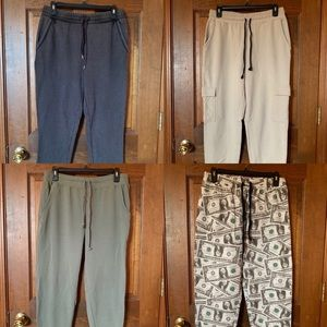 bundle of sweatpants ($30) or each ($10)